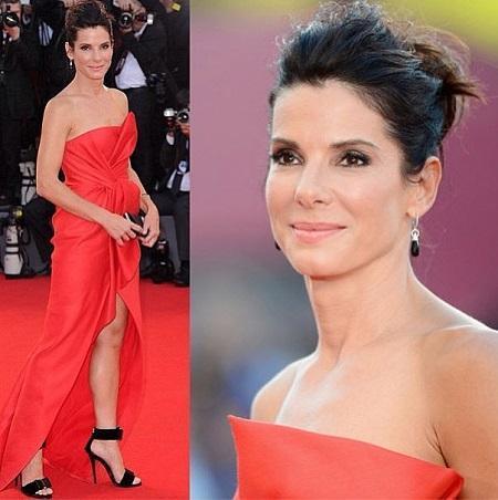 Sandra Bullock hair style Venice Film Festival