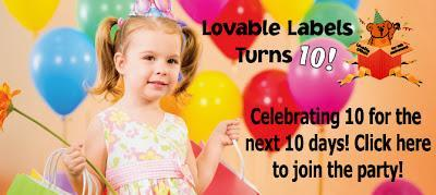 Lovable Labels 10th Anniversary Sale!