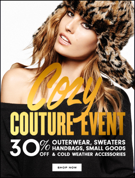 Cozy Couture Event - Enjoy 30% off Outerwear, Sweaters, Handbags, Small Goods & Cold Weather Accessories!
