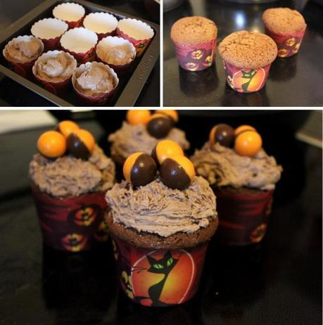 cassiefairys pieday friday recipe for chocolate orange cupcakes muffins with choccie icing and orange aero balls