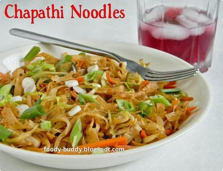 ASIAN INSPIRED SHREDDED CHAPATHI | LEFTOVER CHAPATHI NOODLES