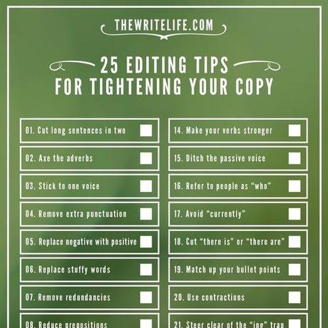 25 Editing Tips for Tightening Your Copy: Now in Checklist Form