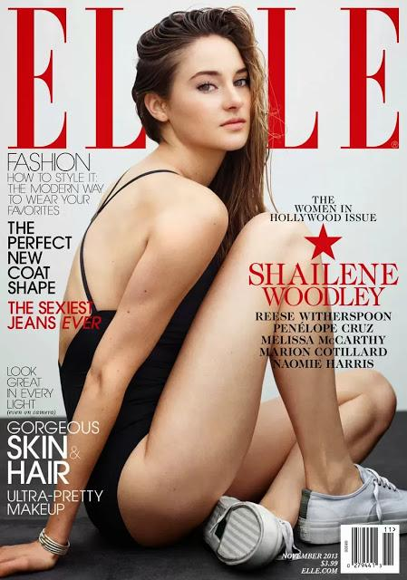REESE WITHERSPOON, PENELOPE CRUZ, SHAILENE WOODLEY AND MELISSA MCCARTNEY FOR ELLE NOVEMBER 2013 COVER STORY