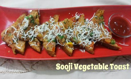 Sooji Vegetable Toast / Semolina Bread Toast