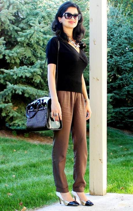 Fall OOTD: Knit Top and Tapered Trousers