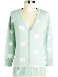 ModCloth Warmhearted Welcome Cardigan in Blue