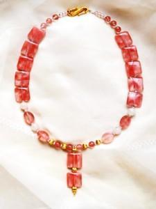 Coral Y necklace