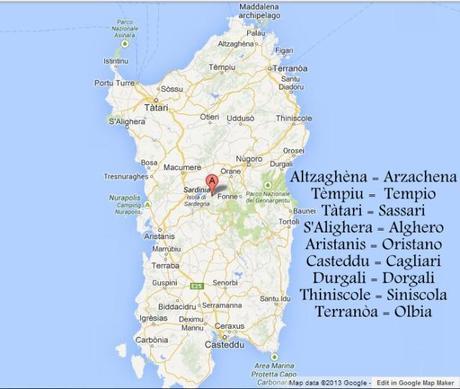 Google Maps Sardinien