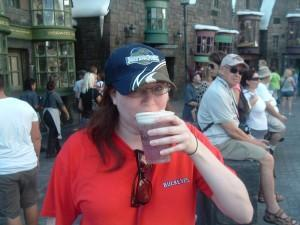 Trying out butterbeer