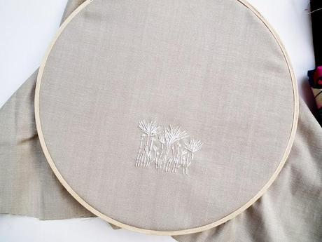 Embroidery stamping tip