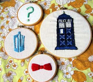 Fun with embroidery +Tardis