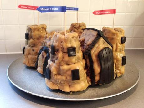 enid blyton's malory towers castle cake recipe and method using silicon mould vanilla bundt with caramel frosting