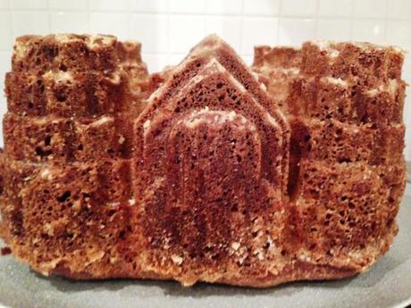 perfect intricate detailing from silicon castle cake mould recipe brickwork turrets and door