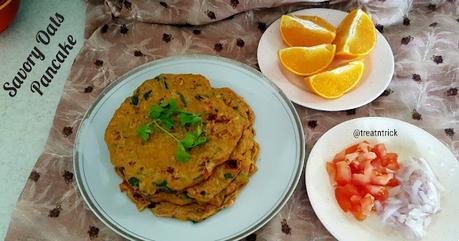 Savory Oats Pancake Recipe @ treatntrick.blogspot.com