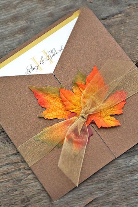 autumn wedding invitations 1