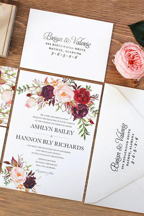 fall wedding postcards and invitations 4