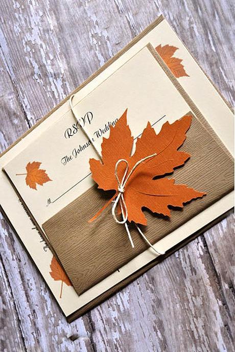 fall wedding invitations 1