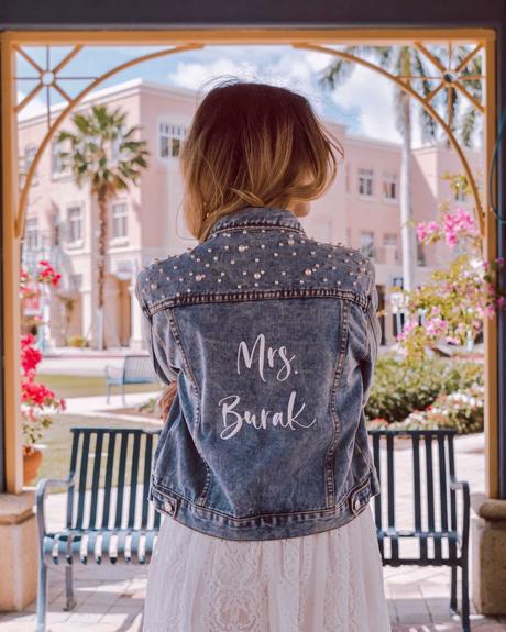 Miss To Mrs Denim Bridal Jacket