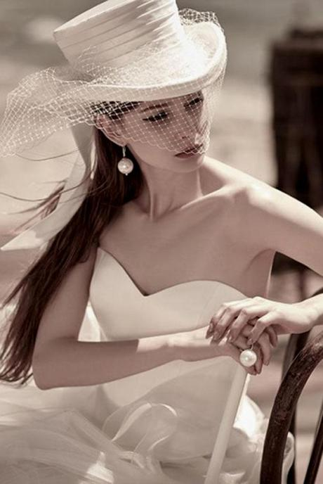 wedding hats romantic style