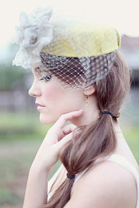 wedding hats for bride vintage yellow bridal hat with veil and white flower simply bloom photography