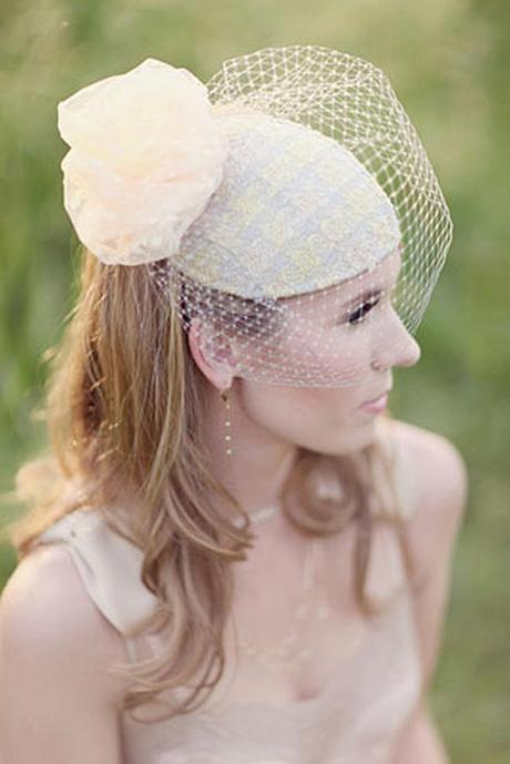 wedding hats for bride vintage cream shade bridal hat with a veil and a flower simply bloom photography