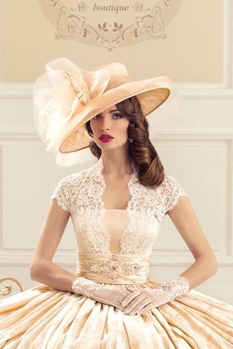 wide brimmed wedding hats