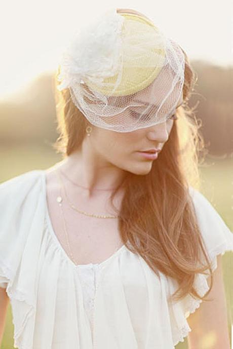 wedding hats for bride vintage yellow bridal hat with a veil and a flower simply bloom photography