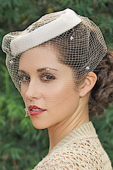 wedding hats for bride vintage elegant bridal hat whith vail michael dunn