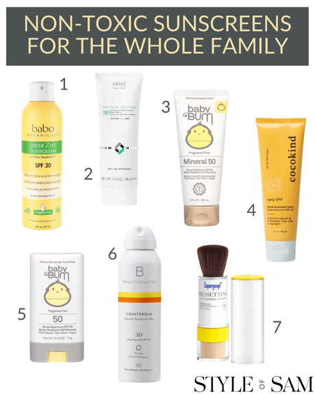 NON-TOXIC SUNSCREEN FOR THE WHOLE FAMILY