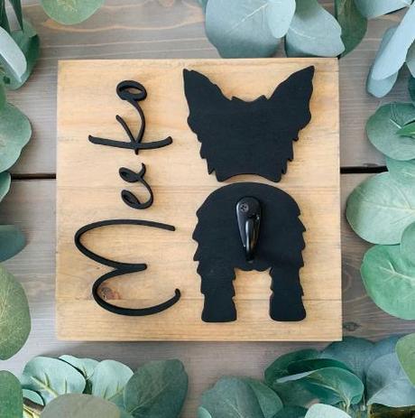 stylish personalized dog breed pet wall hooks