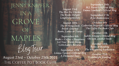 [Blog Tour] 'In a Grove of Maples' (Sheltering Trees: Book 1) By Jenny Knipfer #ChristianHistoricalFiction
