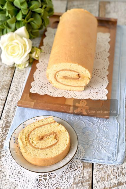 perfect best cottony soft peanut butter chiffon Swiss roll