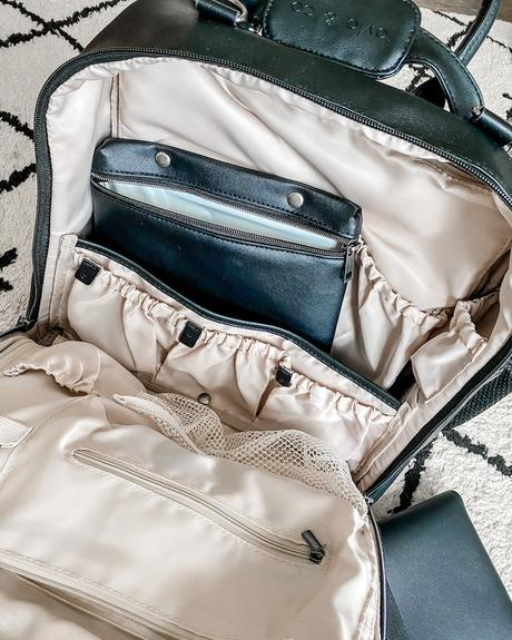 A stylish and functional diaper bag for the trendy mama