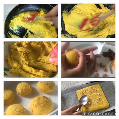 steps of making mango sandesh