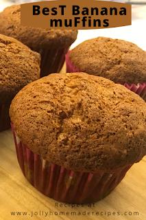 Banana Muffins | Best Ever Banana Muffins Recipe | Easy Banana Muffins