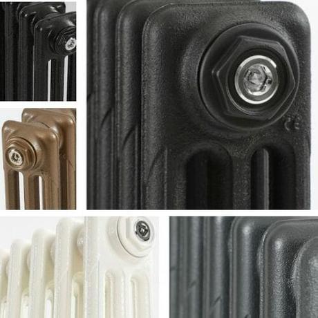 milano mercury cast iron radiator finishes