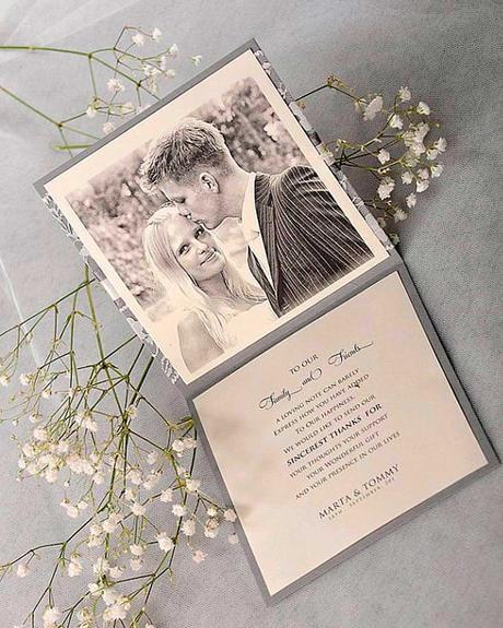 wedding thank you ideas thank you
