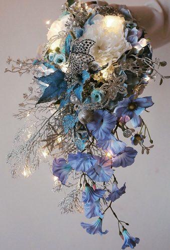 wedding bouquets 2019 blue modern bouquet lux floraldesign
