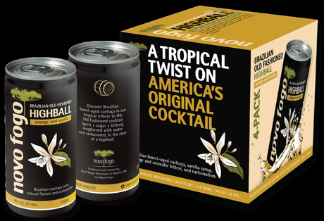 Novo Fogo Cachaça Releases Brazilian Old Fashioned Highball in a Can