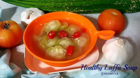 Petola Masak Bening/Healthy Luffa Soup Recipe @ treatntrick.blogspot.com