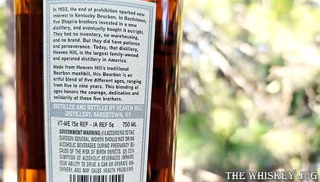 Five Brothers Bourbon Label