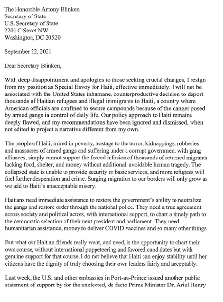 U.S. Envoy To Haiti Resigns Over Inhumane Deportations
