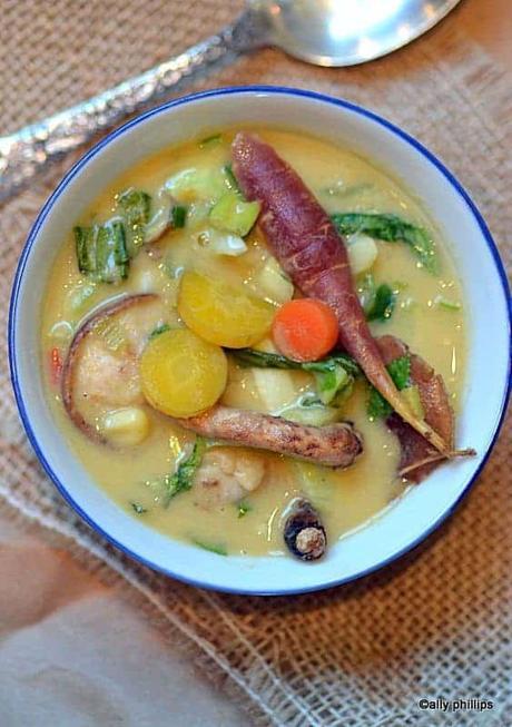 asian corn vegetable soup