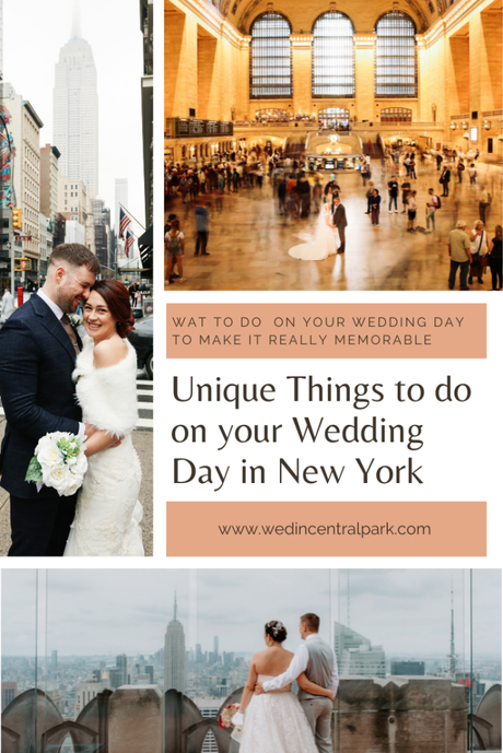 Unique Things to do on your Wedding Day in New York