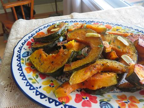 Roasted Winter Squash with Garlic & Thyme