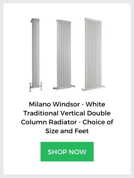 vertical white milano windsor column banner