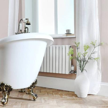 white milano aruba radiator in a bathroom