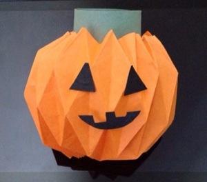 East DIYAccordion Fold Paper PumpkinPaperblog