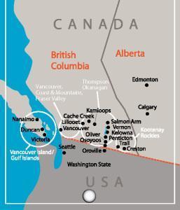 BC Wine Map