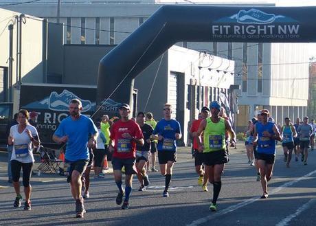 Mike Sohaskey at mile 11.5 of Portland Marathon 2013